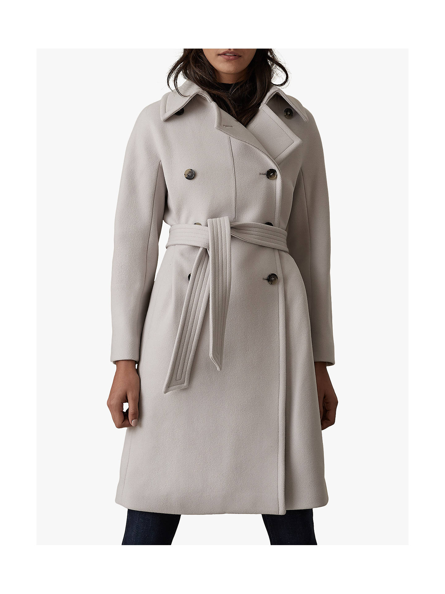Buy Reiss Eilish Double Breasted Coat, Neutral, 6 Online at johnlewis.com