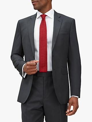 Jaeger Wool Pinstripe Regular Fit Suit Jacket, Charcoal