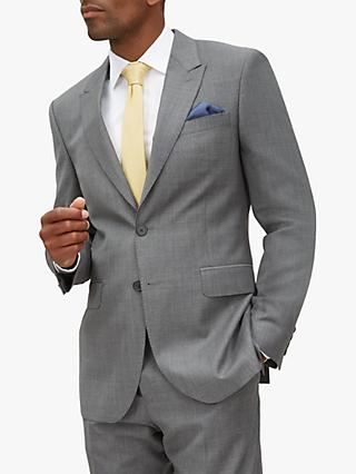 Jaeger Mouline Weave Regular Fit Suit Jacket, Grey