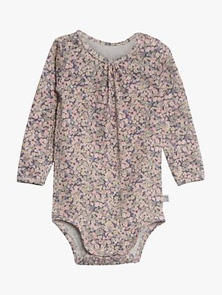 Wheat Baby Floral Bodysuit, Soft Lavender