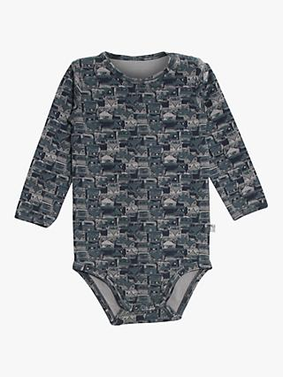 Wheat Baby Graphic Long Sleeve Bodysuit, Navy