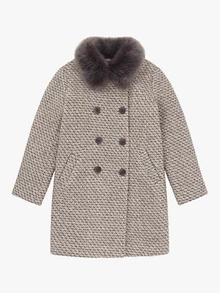 b8e9d21e0f9 Jigsaw Girls  Faux Fur Collar Coat
