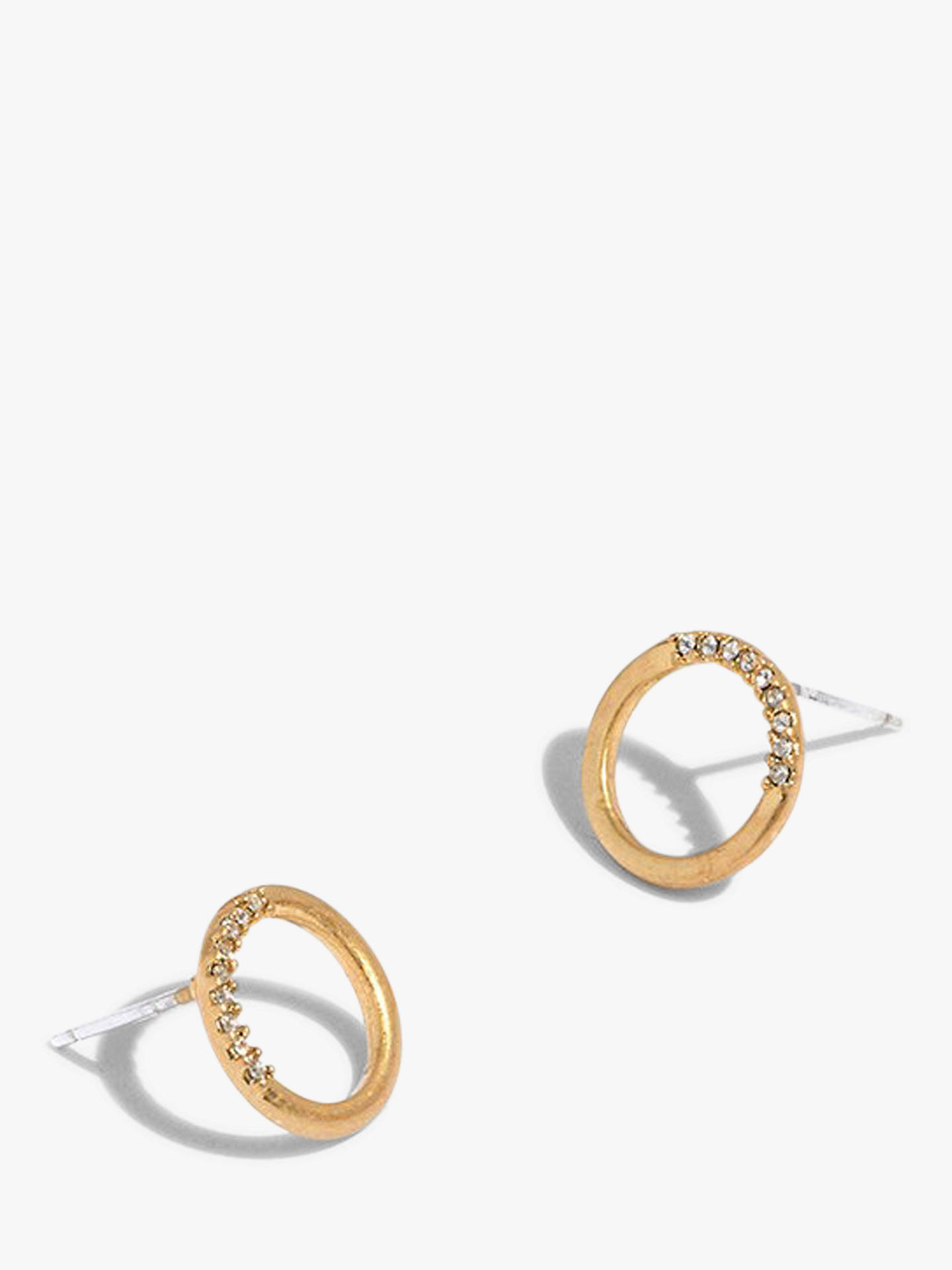 713001674 Buy Madewell Pave Circle Stud Earrings, Vintage Gold Online at johnlewis.com