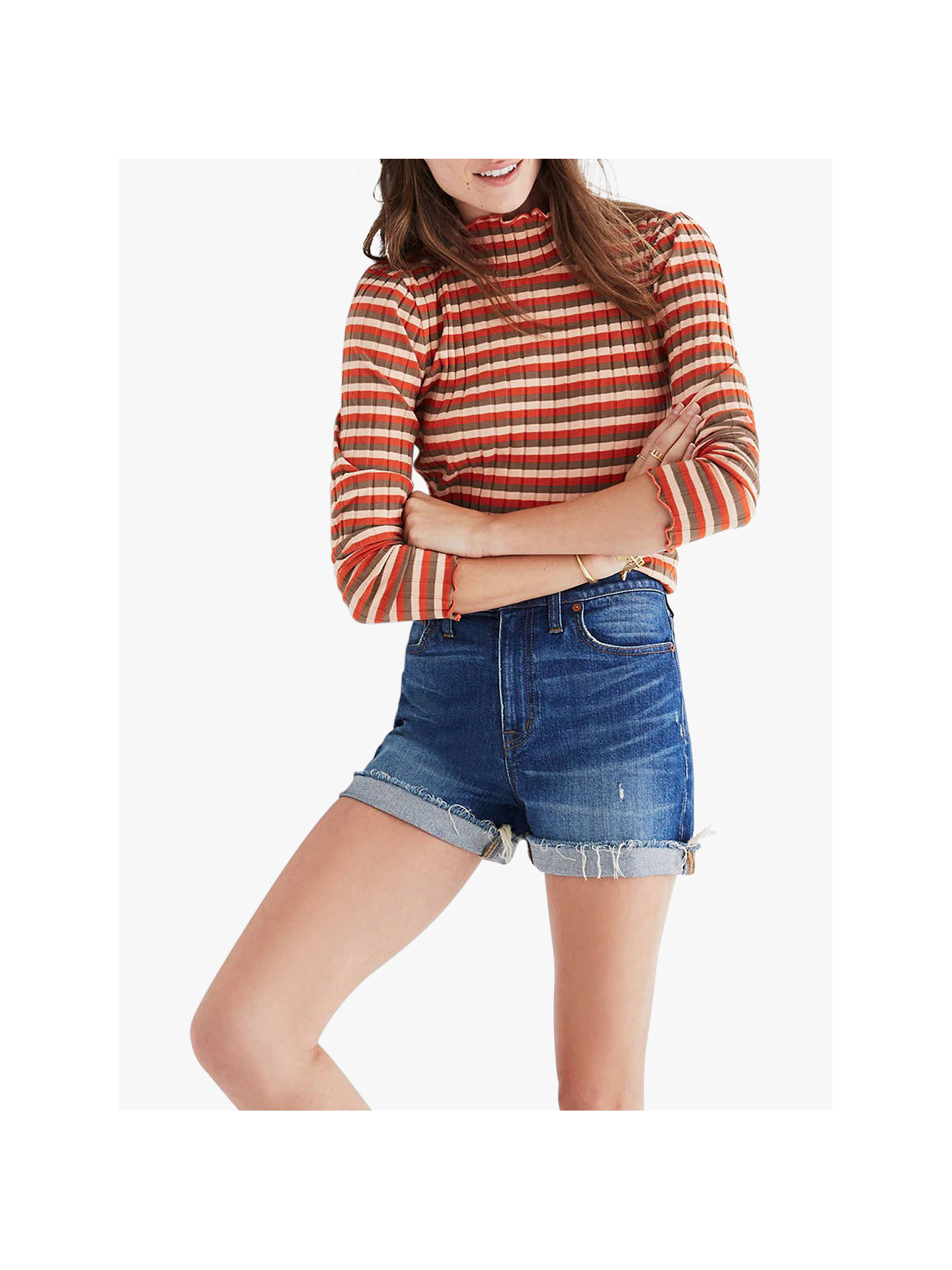 61bedd8e6ce Buy Madewell High Rise Denim Boy Shorts