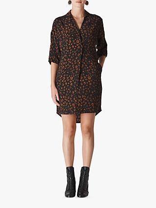 Whistles Lola Cheetah Print Dress, Black/Multi