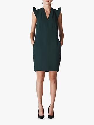 Whistles Safia Crepe Dress, Dark Green