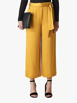 Whistles Belted Wide Leg Trousers, Gold