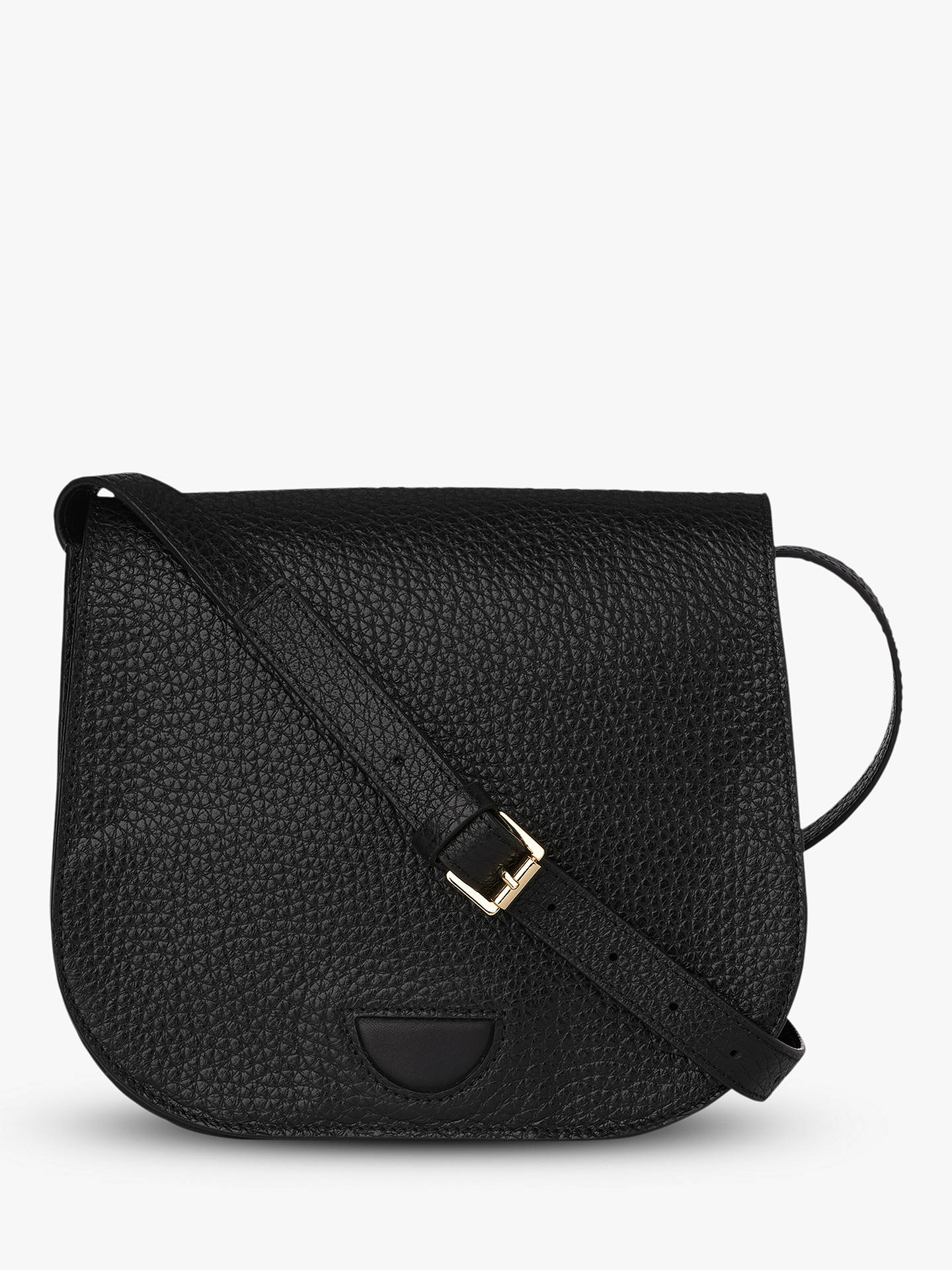 Whistles Exeter Leather Saddle Bag Black Online At Johnlewis