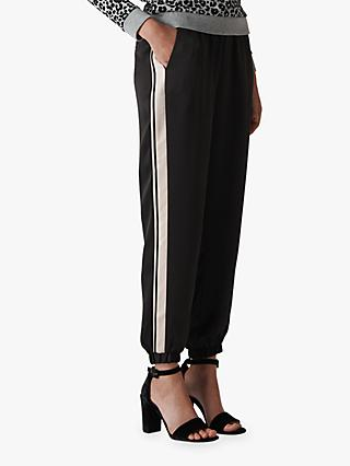 Whistles Side Stripe Jogger Trousers, Black