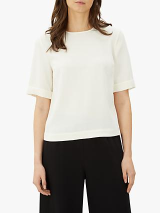 Jaeger Boxy Crepe Top, Ivory