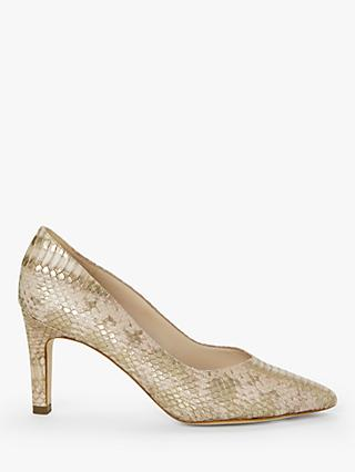 Peter Kaiser Elfi Stiletto Heel Court Shoes, Natural Snake Leather