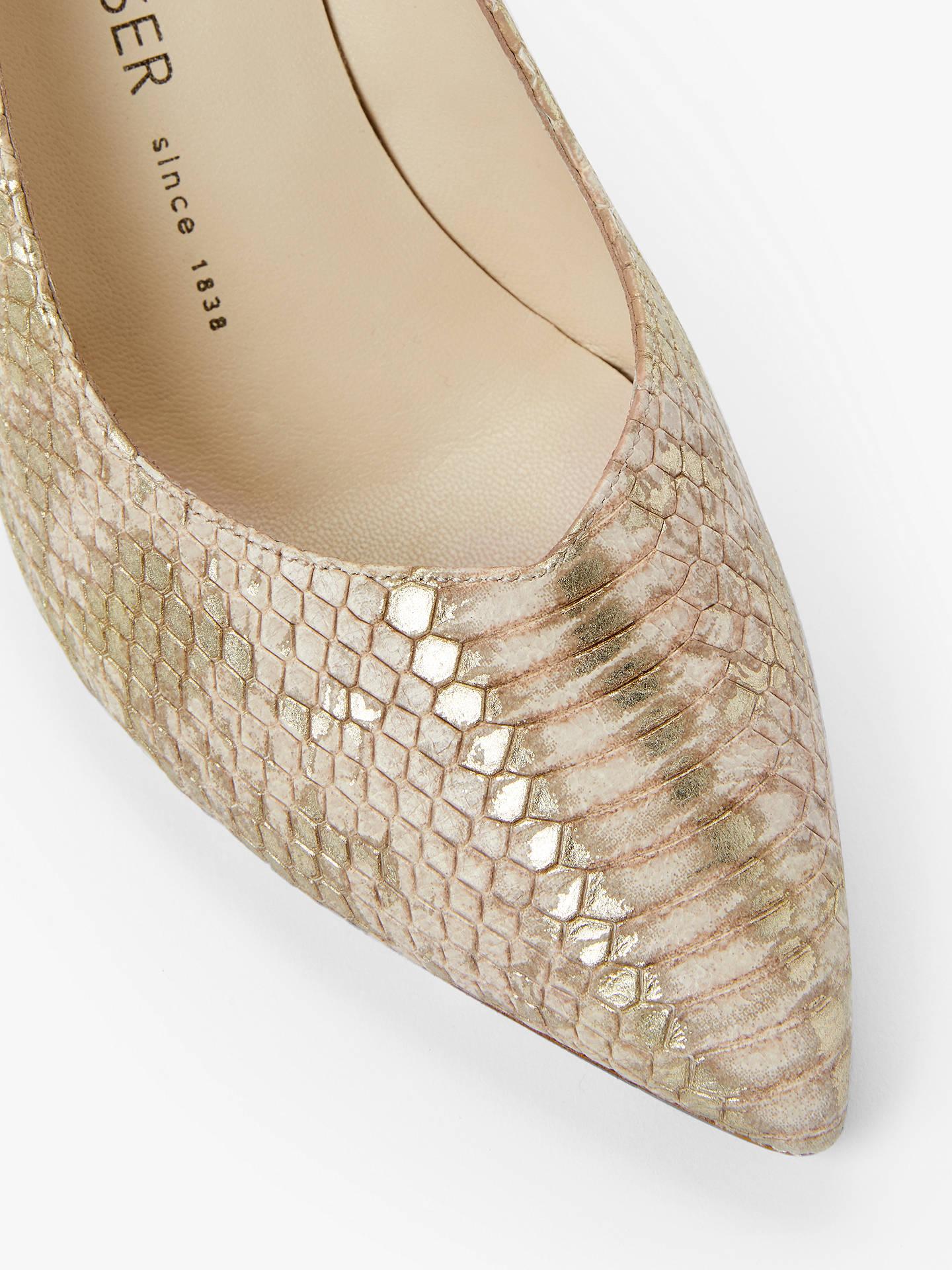 online store cacbe 64c68 Peter Kaiser Elfi Stiletto Heel Court Shoes, Natural Snake ...
