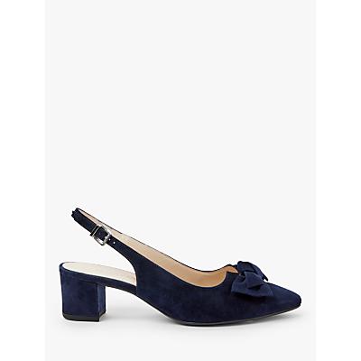 Peter Kaiser Bojana Bow Slingback Court Shoes, Notte Suede