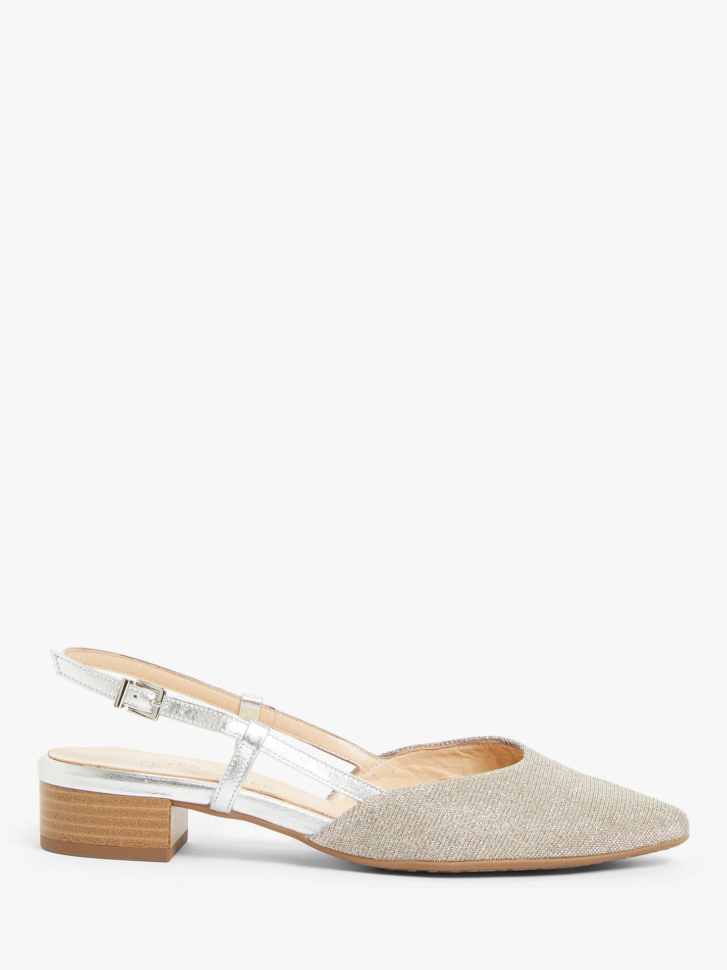 newest bfdb7 4d919 Peter Kaiser Calida Block Heel Slingback Court Shoes, Sand ...