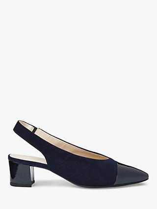b3b04b9d04213 Peter Kaiser Bozea Block Heel Sling Back Court Shoes