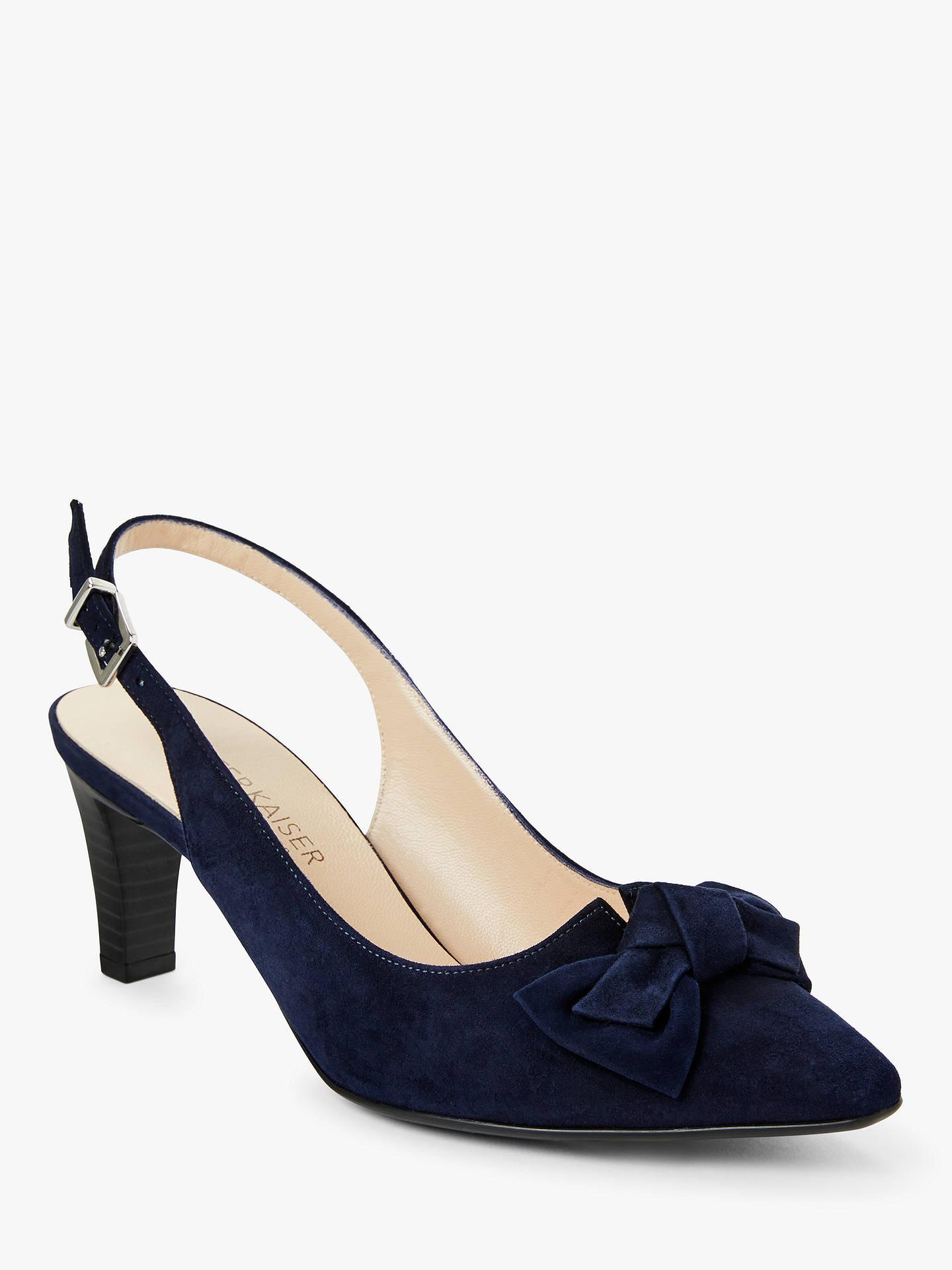 innovative design 12f8a 78c04 Peter Kaiser Malijana Bow Cone Heel Slingback Court Shoes, Notte Suede