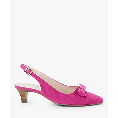 Peter Kaiser Sona Bow Slingback Court Shoes, Berry Suede