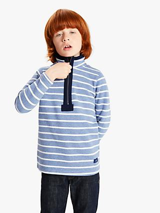 Little Joule Boys' Stripe Sweatshirt, Blue