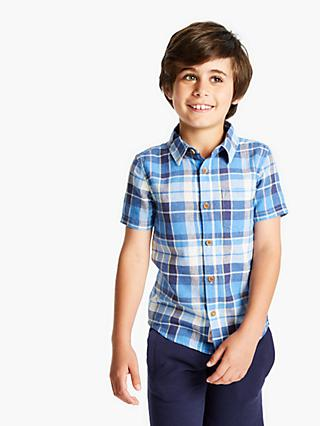 Little Joule Boys' Check Shirt, Blue