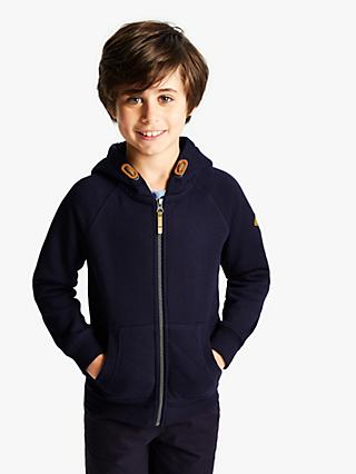 Little Joule Boys' Zip Through Hoodie, Navy