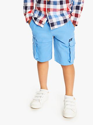 Little Joule Boys' Jersey Cargo Shorts, Blue
