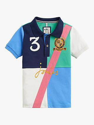 Little Joule Boys' Tucker Harlequin Polo Top, Green
