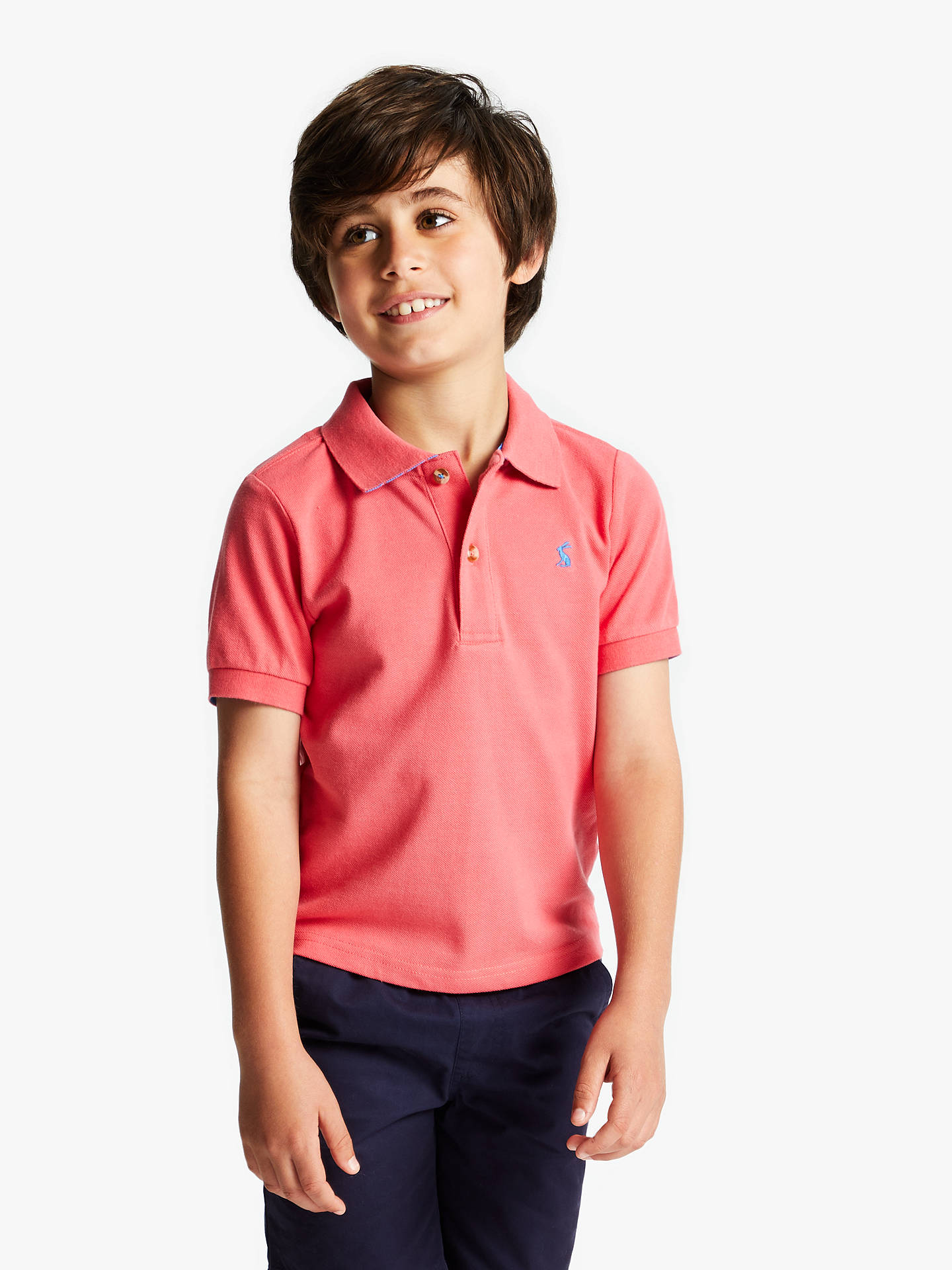 90dfd01c1 Buy Little Joule Boys' Polo Shirt, Pink, 3 years Online at johnlewis.