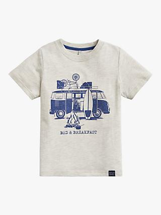 Little Joule Boys' Graphic Print T-Shirt, Neutral