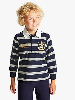 Little Joule Stripe Rugby Top, Navy