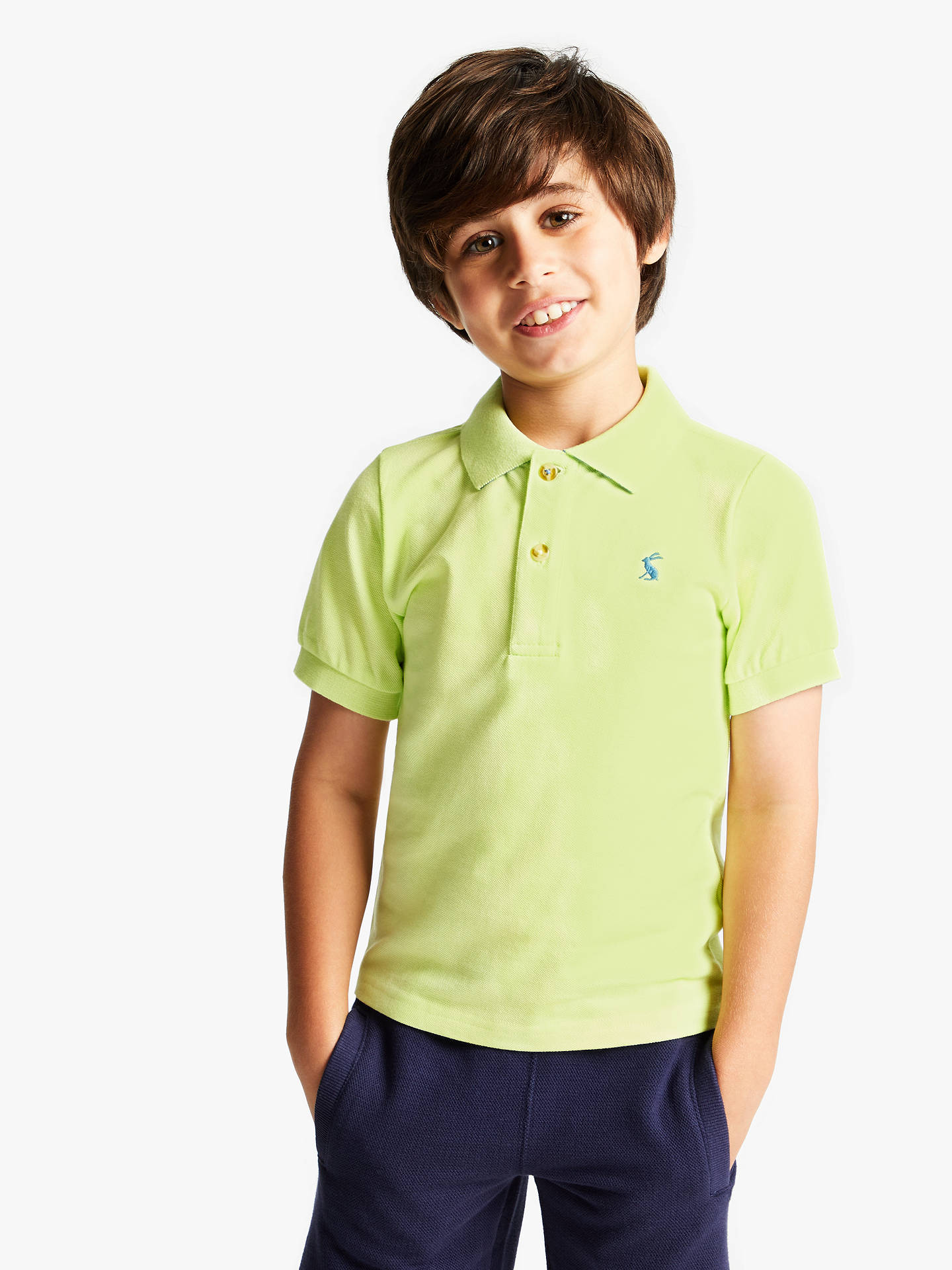 0ab6fad49 Buy Little Joule Boys' Polo Shirt, Lime Green, 4 years Online at johnlewis  ...