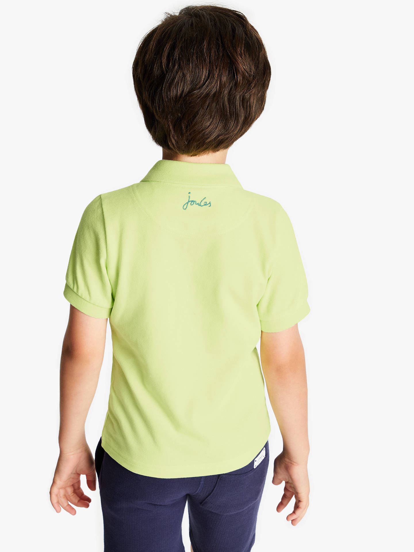 86ed3e5f2 ... Buy Little Joule Boys' Polo Shirt, Lime Green, 4 years Online at  johnlewis ...