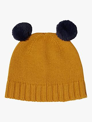 Jigsaw Children's Faux Fur Pom Pom Hat, Mustard