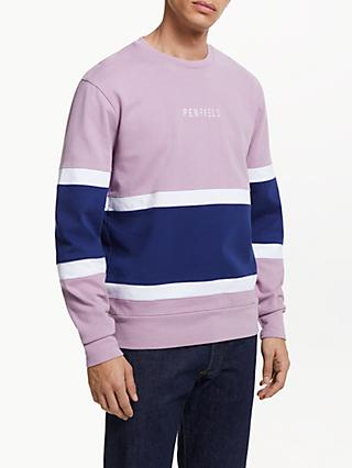 Penfield Boyd Colour Block Sweatshirt, Lavender Mist