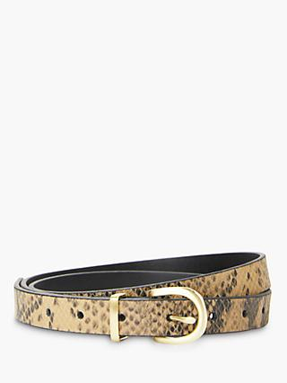 c63bf9eb8 John Lewis   Partners Stella Snake Pattern Skinny Jeans Leather Belt
