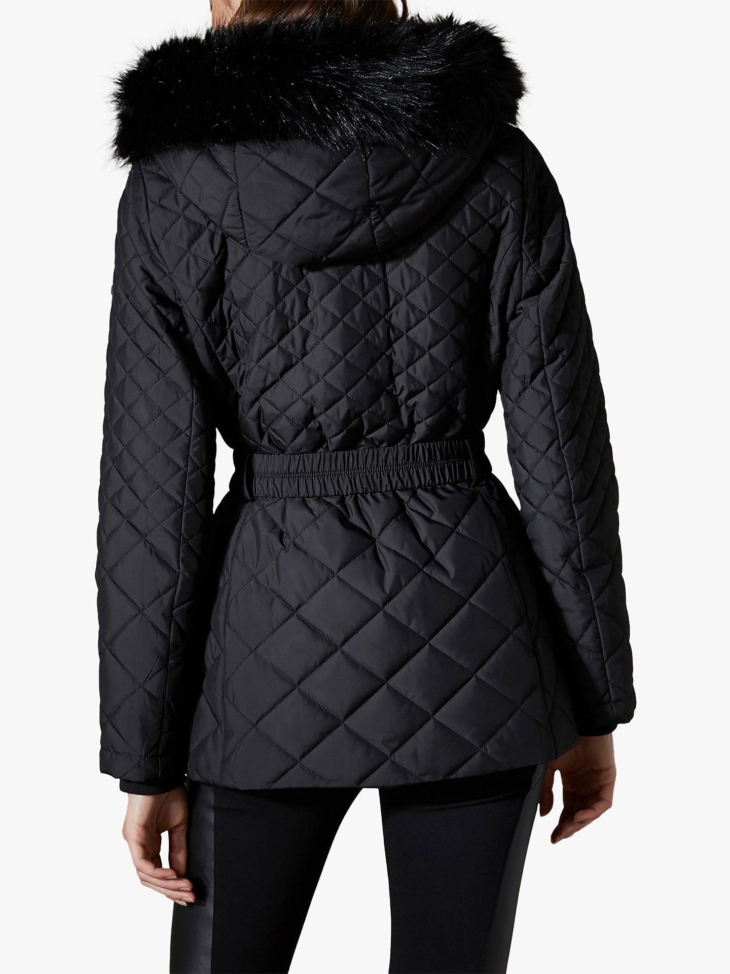 18d885e9eca ... Buy Karen Millen Belted Puffer Coat, Black, 12 Online at johnlewis.com  ...