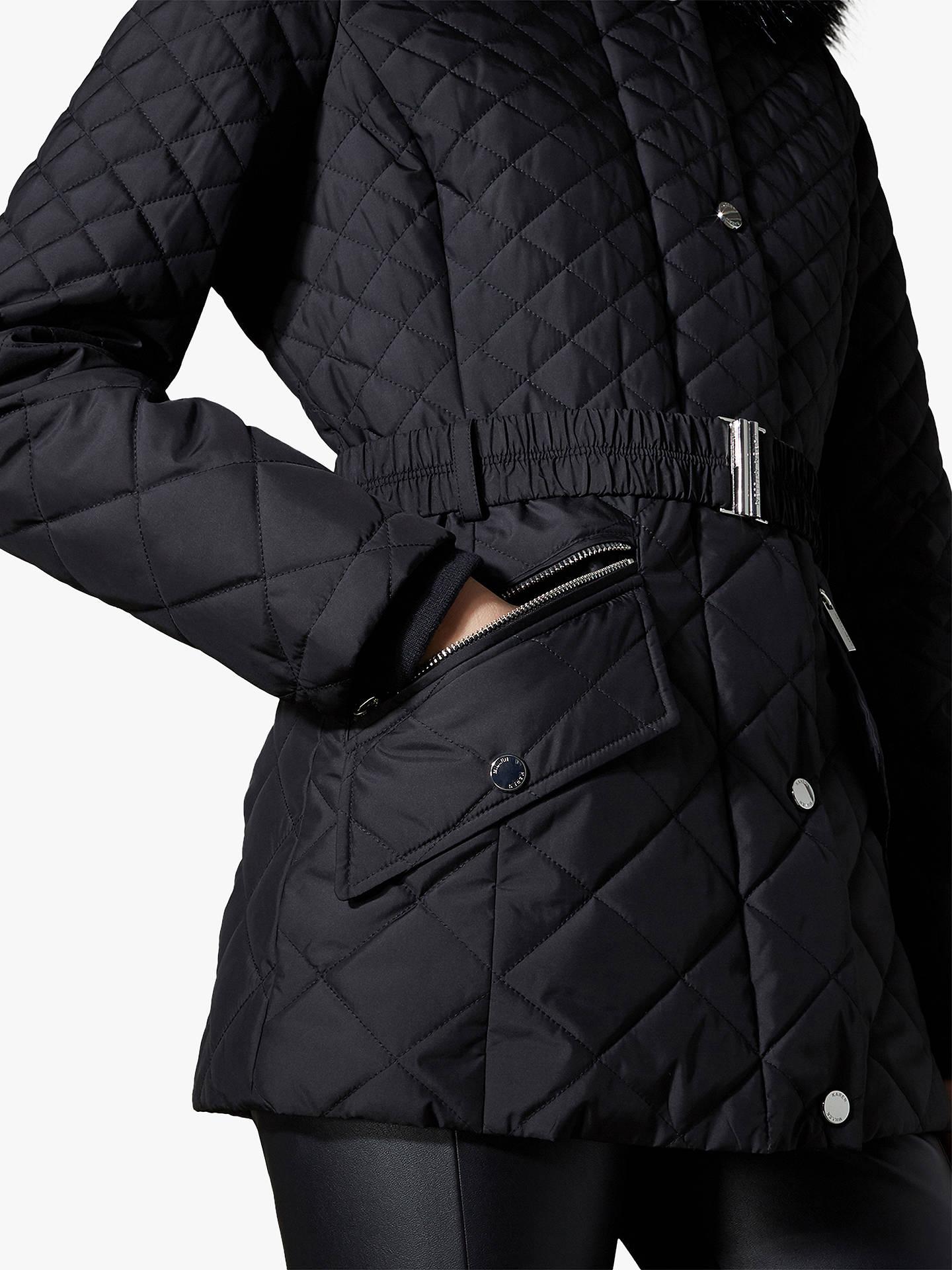 b973442e947 ... Buy Karen Millen Belted Puffer Coat, Black, 12 Online at johnlewis.com