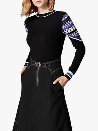Karen Millen Pattern Jumper, Black