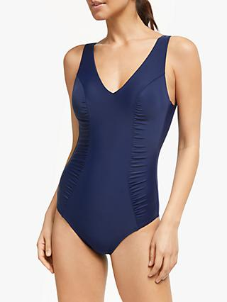 2e949b62d9 John Lewis   Partners Side Ruched Control Swimsuit