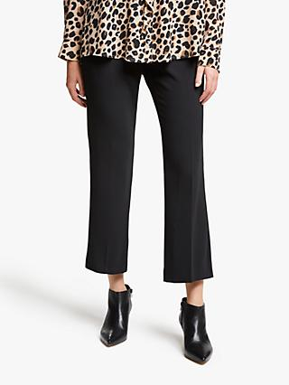 Marella Didy Cropped Trousers, Black