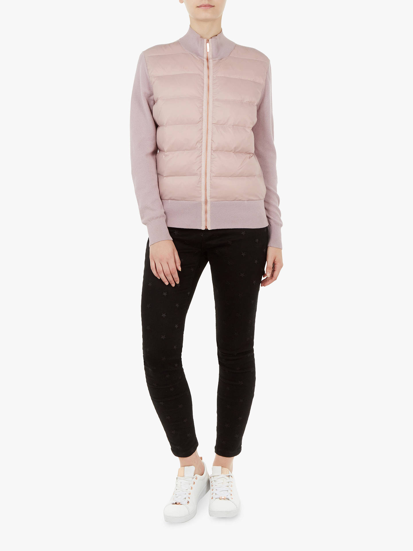 BuyTed Baker Xinta Knit Jacket, Purple Lilac, L Online at johnlewis.com