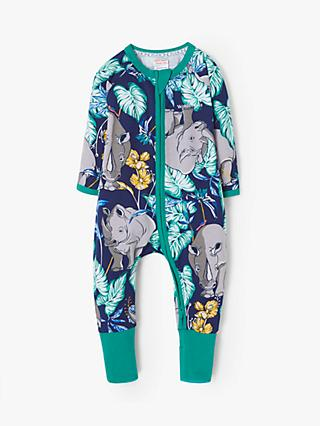 Bonds Baby Ron the Rhino Print Wondersuit, Navy
