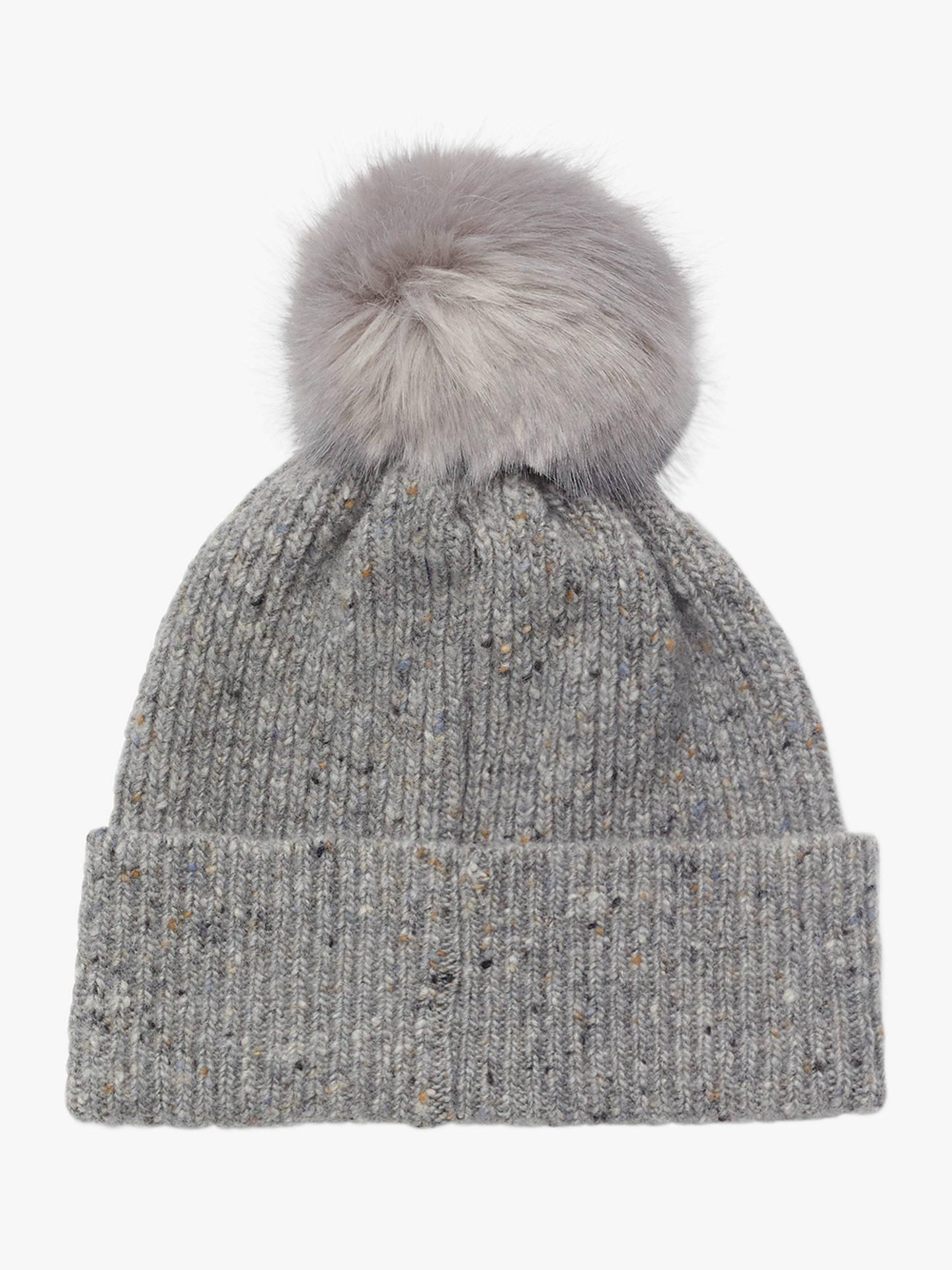 JIGSAW Grey Luxury Hat And Mitten Gift Set