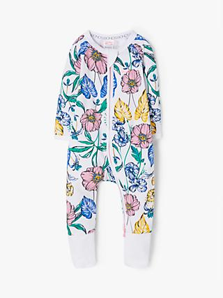 Bonds Baby Tomorrow Floral Print Wondersuit, White