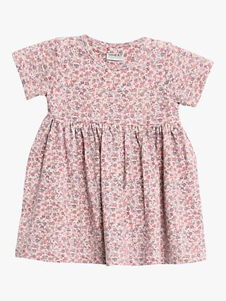 Wheat Baby Swan Jersey Flared Dress, Pink Powder
