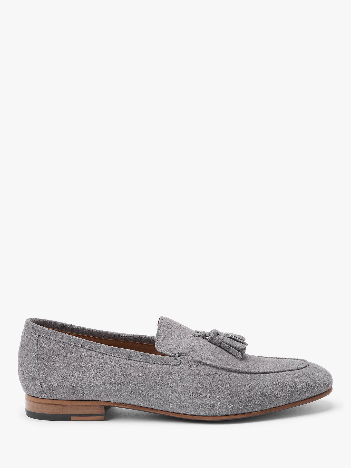 Buy John Lewis & Partners Luca Suede Tassel Loafers, Ash, 7 Online at johnlewis.com