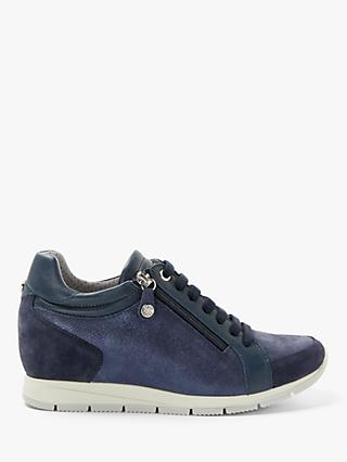 John Lewis & Partners Designed for Comfort Essie Trainers, Navy Leather/Suede
