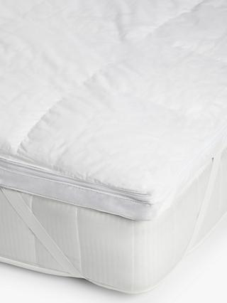 John Lewis & Partners Natural Collection Hungarian Goose Down 5cm Deep Mattress Topper