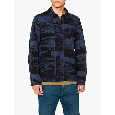 PS Paul Smith Photo Camo Overshirt, Blue