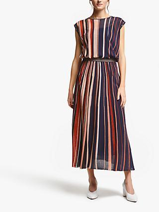 65e0b2c56e7a Marella Melfi Metallic Stripe Dress