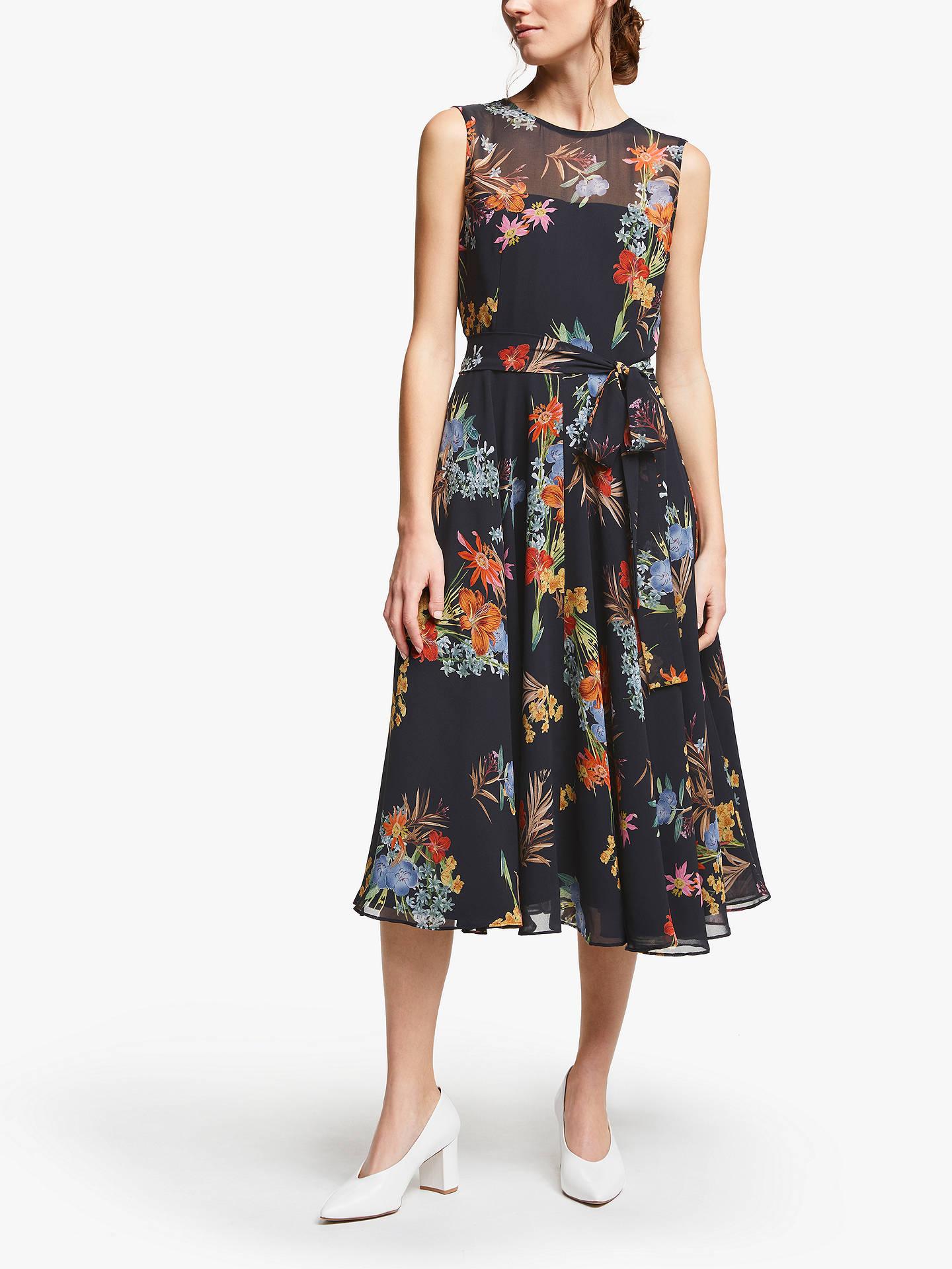 Marella Pinta Floral Print Dress, Black at John Lewis & Partners